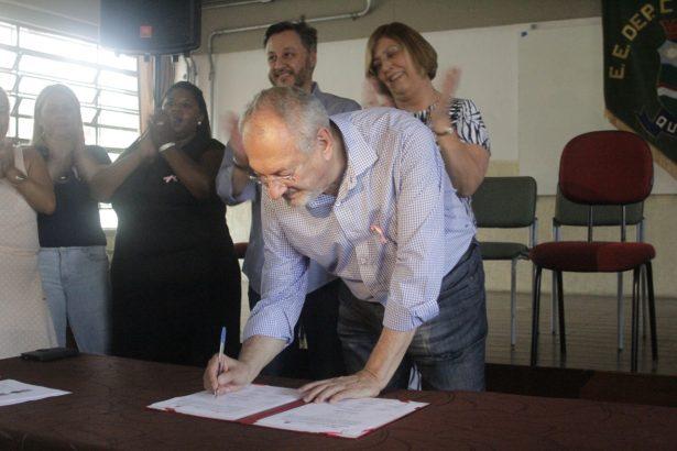 Secretário de Educação do Estado de São Paulo, José Lanini